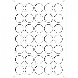 Plateau Format L pour 35 cases circulaires pour 37 mm