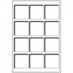 Plateaux Format L pour 35 cases circulaires de 37 mm