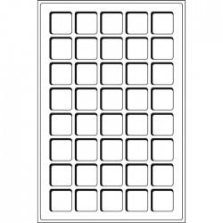 Plateaux Format L pour 35 cases circulaires de 39 mm