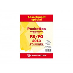 Assortiment de pochettes 2013-2ème semestre (double soudure)