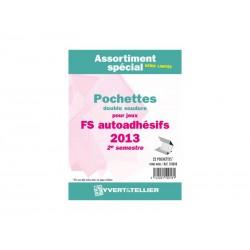 Assortiment de pochettes Auto Adhésifs 2013-2ème semestre (double soudure)