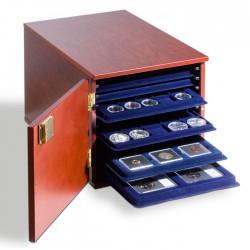 Luxueux coffret façon acajou pour 10 plateaux au format L.