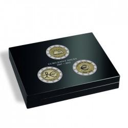 Coffret  noir pour 105 pièces de 2 euros sous capsules