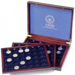 Coffret  en bois pour 80 pièces de 2 euros Allemandes sous capsules