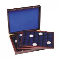 Coffret  en bois de 144 compartiments carrés de 30 mm, Plaques de muselet