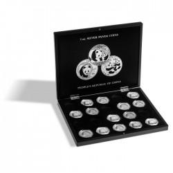 Coffret  noir pour 15 pièces 10 euros argent sous capsules