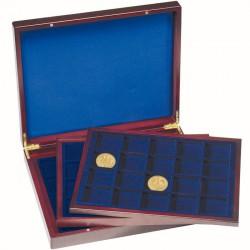 Coffret  en bois de 90 compartiments carrés de 39 mm