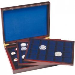 Coffret  en bois pour 18 séries d'euros sous capsules