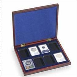 Coffret  en bois pour 17 pièces de 2 euros sous capsules, « Traité de Rome »