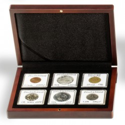 Ecrin numismatique 6 cases carrées pour Quadrum ou étuis cartonnés
