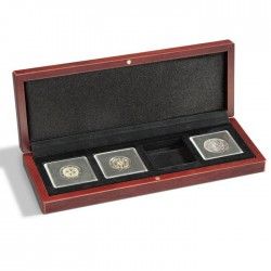 Ecrin numismatique 5 cases carrées pour Quadrum ou étuis cartonnés