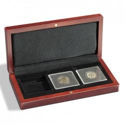 Ecrin numismatique 4 cases carrées pour Quadrum ou étuis cartonnés