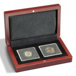 Ecrin numismatique 2 cases carrées pour Quadrum ou étuis cartonnés