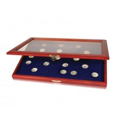 Vitrine pour 40 pièces de 2 € commémoratives