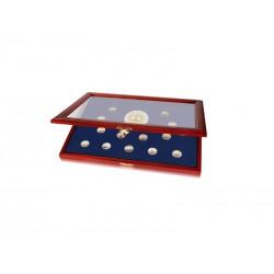 Vitrine pour 40 pièces de 2 € Traité de Rome