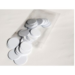 Rond en bristol blanc 20 mm par 100