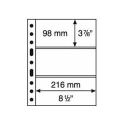 Feuilles GRANDE 3 poches transparentes