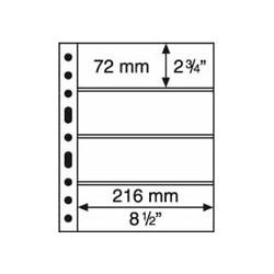 Feuilles GRANDE 4 poches transparentes