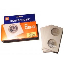 Etuis cartonnés Hartberger à agrafer 40 mm
