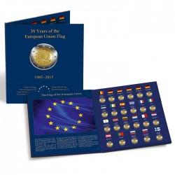 Album 2 Euros commémoratives PRESSO, 30 ans du drapeau de l'UE