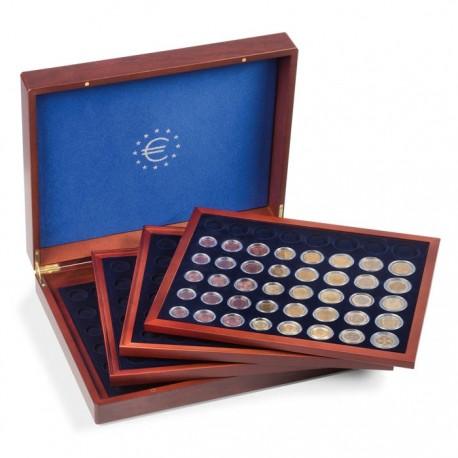 Coffret  en bois pour 24 séries d'euros sous capsules