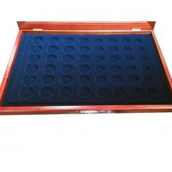 vitrine safe 5906 pour ranger 6 séries d'euros sous capsules