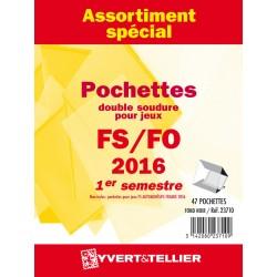 Assortiment de pochettes 2015  2ème semestre FO/FS (double soudure)