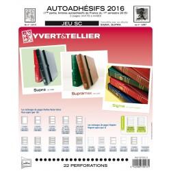 Jeu SC France 2015 Auto adhésifs 1er semestre -YVERT ET TELLIER