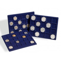 Valisette numismatique pour 120 pièces allant jusqu'à 39 mm Ø