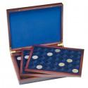 Coffret  en bois pour 105 pièces de 2 euros sous capsules
