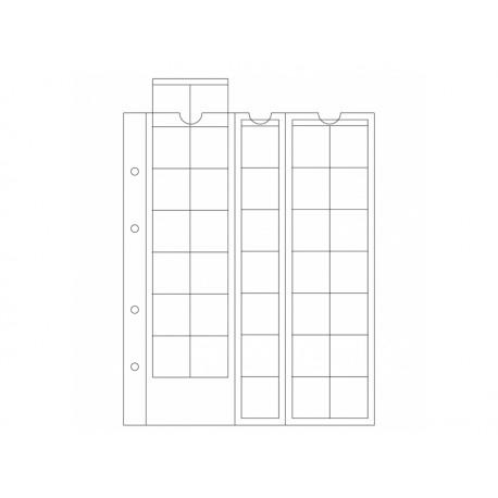 Feuilles OPTIMA 27 , 35 cases jusqu'à 27 mm