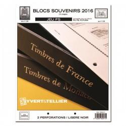 Jeu FS BLOCS SOUVENIRS 2016 YVERT ET TELLIER