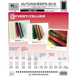 Jeu SC France 2016 Auto adhésifs 2ème semestre -YVERT ET TELLIER