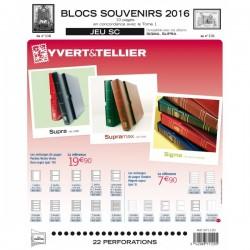 Jeu SC Blocs souvenirs 2016 YVERT ET TELLIER