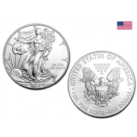 Silver Eagle 1oz - 1 dollar USA 2017