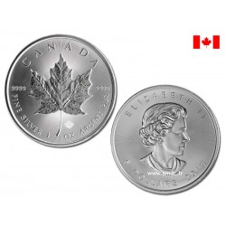 Maple Leaf 1oz - 5 dollars Canada 2017 - 1 once