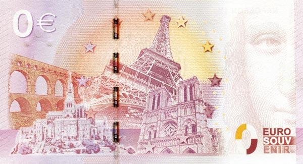 face commune billet euro souvenir