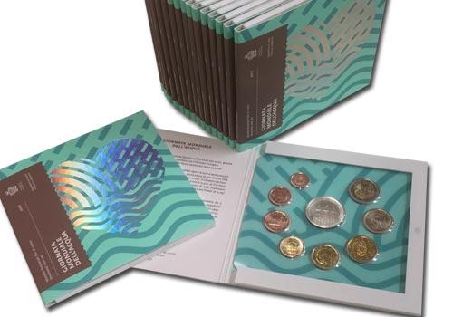 Série en euro 2017 de Saint Marin comprenant la série complète de 1 centime à 2 euro