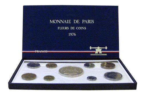 Série de monnaies en francs de qualité FDC de 1976