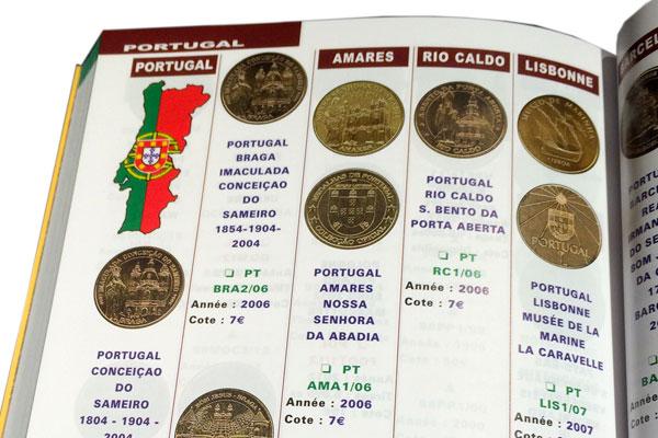 le livre officiel des médailles souvenirs intérieur portugal