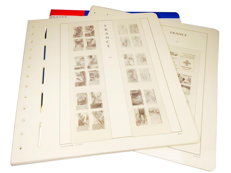 images des feuilles france SF leuchtturm 2015 avec pochettes